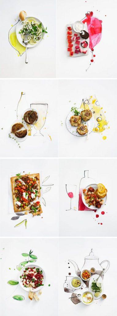 Flat Lays Food Photography